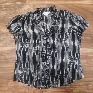 Allison Taylor blouse button front large